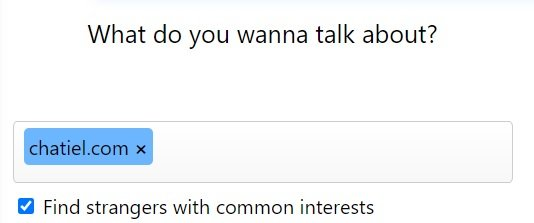 Choose Interests for Omegle Text